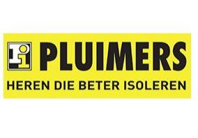 Logo van Pluimers op gele achtergrond.